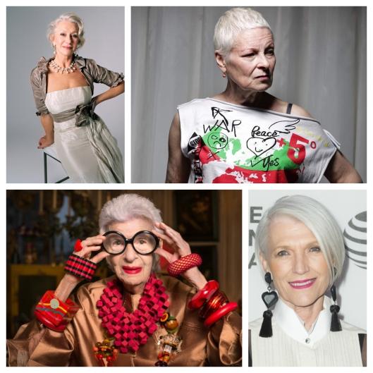 Dame Helen Mirren, Dame Vivienne Westwood, Iris Apfrel, Maye Musk- Ladies who are rocking it: Not a mutton in sight!