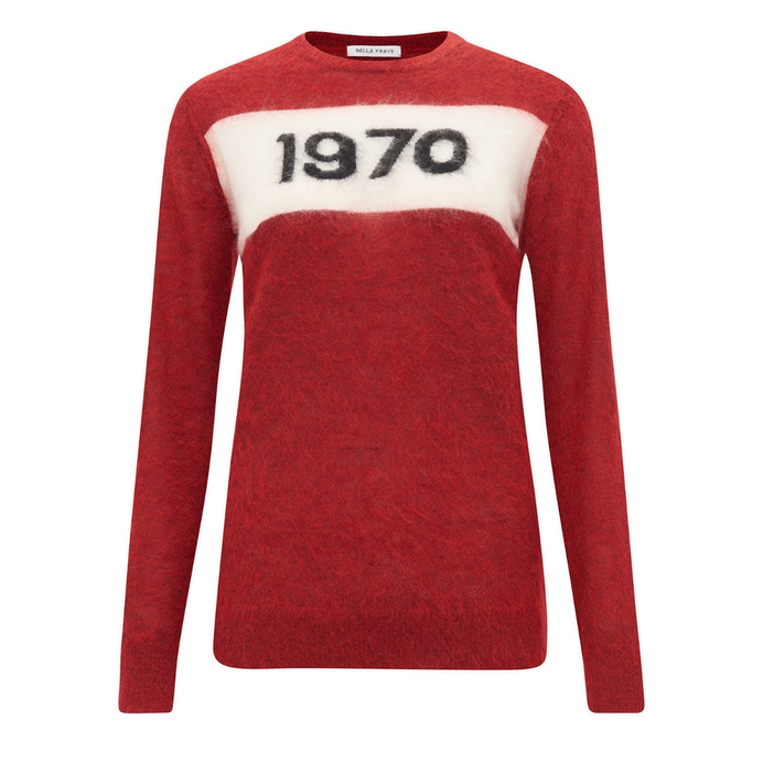 Bella Freud 1970 mohair jumper rust red : Image from Bella Freud dot come