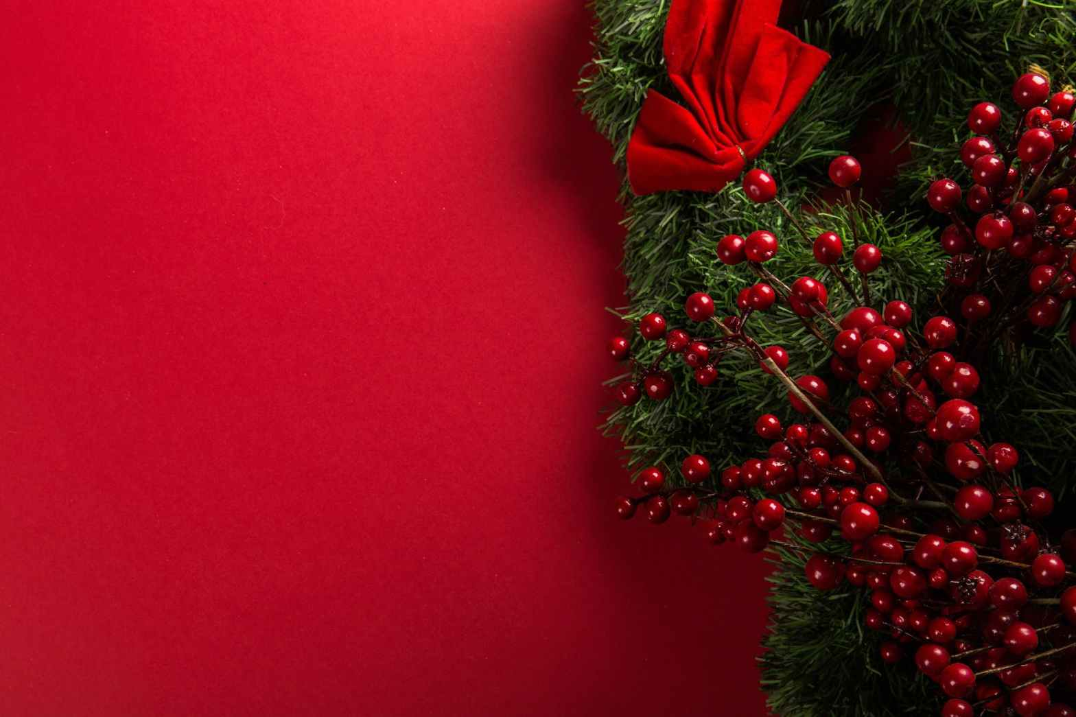 red and green mistletoe decoration